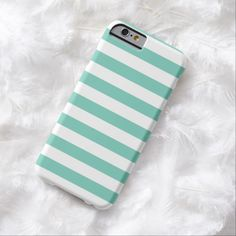 It's a cool iPhone 6 Case! This Summer Stripes Cockatoo Turquoise iPhone 6 case is ready to be personalized or purchased as is. It's a perfect gift for you or your friends.