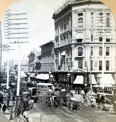 """An image of Denver City in the late This was Cat O'Banyon's destination where she thought she would find her late husband's killer, to whom she would ask her patent question: """"You or her? Denver City, Denver Colorado, Le Far West, Old West, Old Photos, Vintage Photos, Historical Photos, Rocky Mountains, American History"""