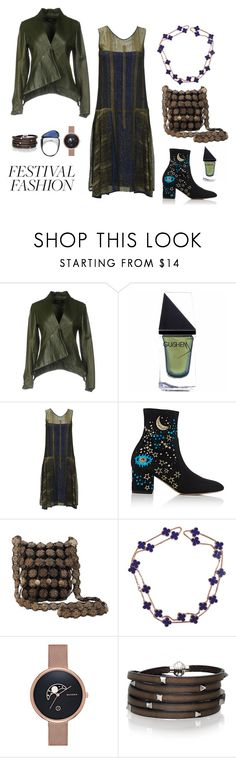 """Festival Fashion"" by taci42 ❤ liked on Polyvore featuring Adele Fado, GUiSHEM, Valentino, NOVICA, Van Cleef & Arpels, Skagen, Sif Jakobs Jewellery and Baccarat"