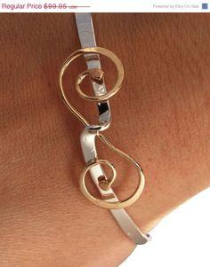 ON SALE Bracelet  Bangle  Argentium by TheJewelryGirlsPlace, $79.96