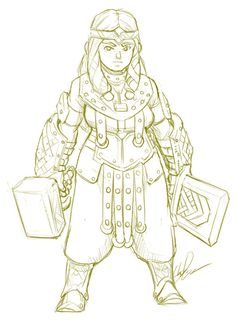 Had a lot of fun with this one :V Actually going to hold this one back as a character in case I need a new one! Anyways, this is Rega the cleric.