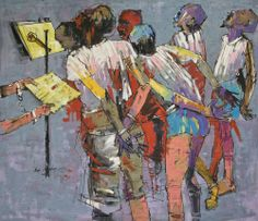 # Nollywood - Virtual Museum of Modern Nigerian Art - Pan-African University Artist: Ben Osaghae (Prison choir)