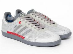 "Star Wars x adidas Originals Samba ""X-Wing"" -- I wish I could find these for him!!"