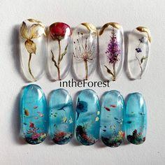 Pin by Cokosiba on ネイル in 2020 Asia Nails, Cute Nails, Pretty Nails, Fruit Nail Art, Acryl Nails, Kawaii Nails, Clear Nails, Best Acrylic Nails, Nail Art Hacks
