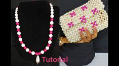 JEWELRY MAKING TUTORIAL HOW TO MAKE A BEADED PEARL NECKLACES \\ BEAD MAK... Pearl Necklaces, Pearl Jewelry, Crochet Necklace, Beaded Necklace, Beaded Bags, Jewelry Making Tutorials, Bead Crafts, Clutch Purse, Hand Bags