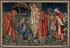 L'Adoration des mages, tapisserie d'Edward Burne-Jones (1904, musée d'Orsay).  (définition réelle 5968×4114)