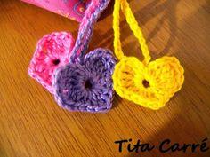 Corações Coloridos em Crochet
