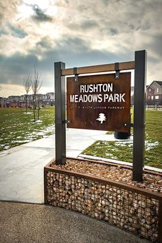 Metal Park Signs from Smith Steelworks with intricate design options, rustic finishing options, and more. Farm Entrance, Entrance Signage, Outdoor Signage, Exterior Signage, Metal Signage, Wayfinding Signage, Signage Design, Driveway Sign, Monument Signs