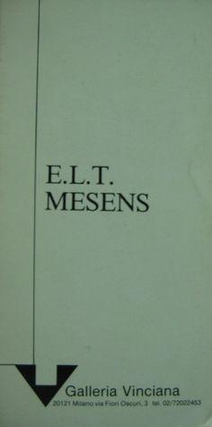 E.L.T. Mesens Invito mostra 1989 galleria Vinciana cm. 21x10,5.