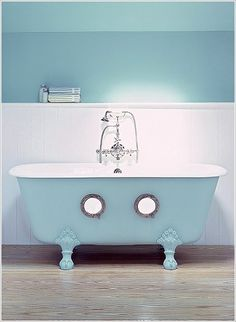 Ahoy matey!  How about some portholes in the bathtub!
