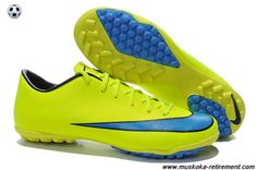 X TF Boots (Volt/Blue/Black) Nike Mercurial Victory For Wholesale