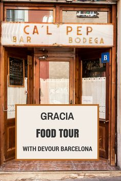 A whimsical recollection of a food tour around Gracia, Barcelona - with lots of tapas and more goodies!