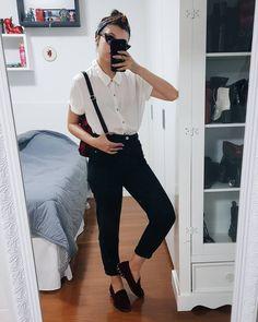 oxford veludo vinho + calça reta jeans escura com barra dobradinha + camisa  social manga curta 3af7e1dc3a1