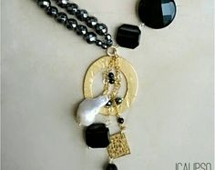 Boho collane di onice per le donne, collana, collane pietre dure, gemme collana, regalo della collana di istruzione, di perline gioielli per moglie