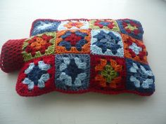 Hot Water Bottle Cover/Cozy by Aalexi on Etsy,