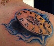 Tattoo 3D dial watch