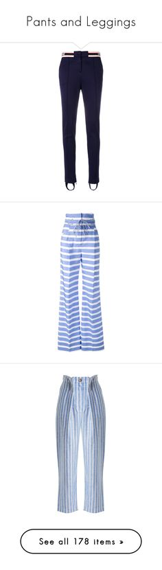 """""""Pants and Leggings"""" by renecathl on Polyvore featuring pants, capris, blue, riding trousers, stirrup trousers, skinny fit pants, skinny pants, skinny leg pants, bottoms and trousers"""