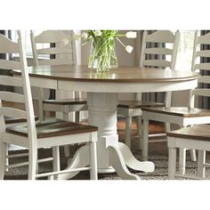 The Gray Barn Careyes Single Pedestal Oval Dinette Table - Cream (Springfield Single Pedestal Dinette Table), Ivory Calgary, Table And Chairs, Dining Chairs, Room Chairs, Dining Room Bar, Dining Set, Kitchen Tables, Kitchen Ideas, Houses