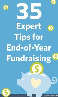 WOW!  35 Expert Tips for End of the year fundraising.  Get moving on one per day and you could see a huge jump in your non-profit's fundraising.