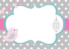 On this special day I wish you a happy day together with your new family that we love you very much and hope that this will continue for much longer. Baby Shower Cards, Baby Shower Invitations, Baby Frame, Bird Party, Baby Shawer, Class Decoration, Binder Covers, Girl Cartoon, Hello Kitty