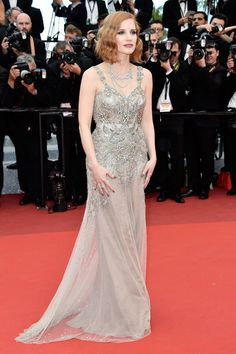 Jessica Chastain in Alexander McQueen Cannes Film Festival Fashion 2016