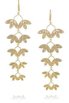 Mallarino. 24-Gold Vemeil Drop Earrings.
