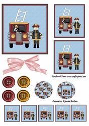 Fireman Topper on Craftsuprint - View Now!