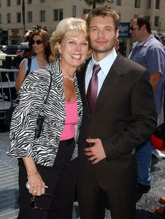 Pin for Later: Stars Being Sweet With Their Moms Ryan Seacrest Ryan Seacrest was honored with a star on the Hollywood Walk of Fame in April 2005 and brought his mom, Connie. Ryan Seacrest, Mom Pictures, Rowan Blanchard, Celebrity Moms, Hollywood Walk Of Fame, American Idol, Hot Guys, Celebs, Street Style