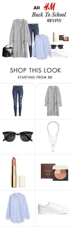 """All H&M Back To School Outfit"" by browneyes46778 on Polyvore featuring mode et H&M"