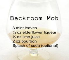 Backroom Mob | 10 Awesome Mob Cocktails