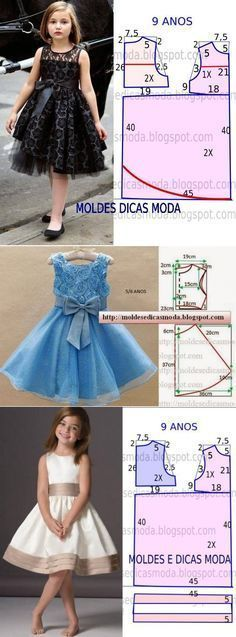 Moldes vestidos little princess