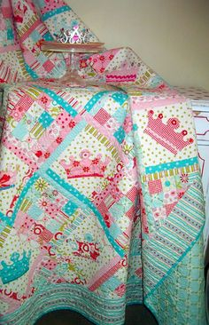 little girl quilt patterns | Thanks to Riley Blake fabric and Amanda from The Quilted Fish for this ...