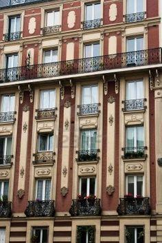 Classic apartment architecture of Paris, France