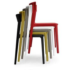 calligaris skin dining chair and calligaris complete collection available at Harrogate Interiors. Official UK stockists of calligaris furniture. Plastic Dining Chairs, Dining Table Chairs, Dining Room, Modern Furniture, Furniture Design, School Chairs, Stackable Chairs, Chair Design, Outdoor Chairs