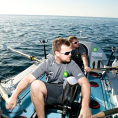 2011 - Will Dixon and Neil Heritage from the 1st Row 2 Recovery crew during the crossing.