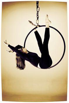 Aerial hoop Lyra dance