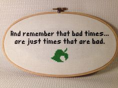 (x true.. THANK YOU SO MUCH TO MY 115 FOLLOWERS! :D for you all i am also thankful for(: Hand Stitched Animal Crossing Quote on Etsy, $18.00