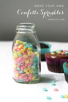 Faça a sua própria garrafa de caseiros Confetti Sprinkles