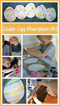 Train Up a Child: Easter Craft for Kids {Absorption Art}