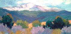 America's Mountain by Laura Reilly Acrylic ~ 6 x 12