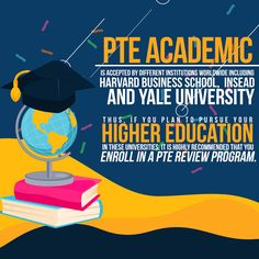 PTE Academic is accepted by different institutions worldwide including Harvard Business School, INSEAD, and Yale University. Thus, if you plan to pursue your higher education in these universities, it is highly recommended that you enroll in a PTE review program. #ptereview #pteacademic #ptetraining