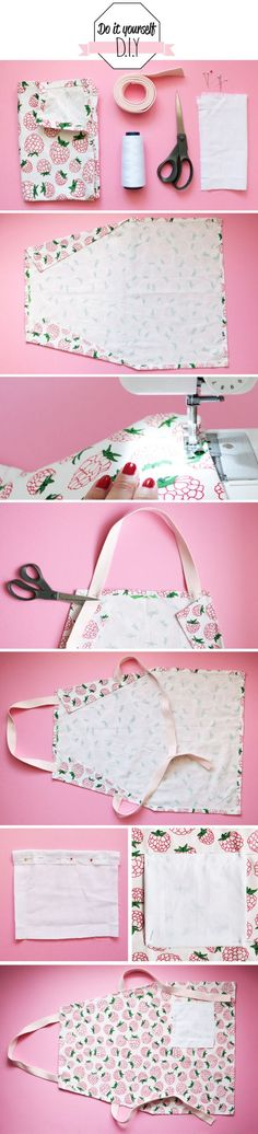 Today I propose a DIY special kitchen! Indeed I participate in a do it yourself contest organized by the site Ce . Sewing Tutorials, Sewing Crafts, Sewing Projects, Sewing Patterns, Dress Patterns, Diy Couture, Couture Sewing, Couture Ideas, Sewing Aprons