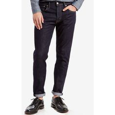 Levi's Men's 512 Slim Tapered Fit Jeans ($47) ❤ liked on Polyvore featuring men's fashion, men's clothing, men's jeans, dark hollow, mens dark jeans, mens tapered jeans and levi mens jeans