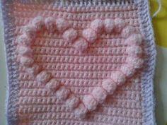 Crochetsnugglies: Bobble Heart Pattern...looks great in an afghan!!