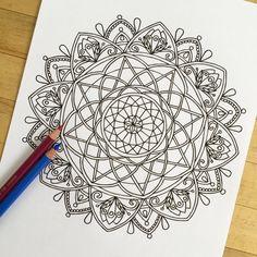Mandala Celebration Hand Drawn Adult Coloring Page от MauindiArts