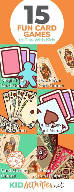 A collection of fun card games to play with kids. Enjoy these various games including two player card games, strategy playing card games, fast card games, Group Card Games, Math Card Games, Family Card Games, Playing Card Games, Dice Games, Games To Play With Kids, Card Games For Kids, Fun Activities For Kids, Kids Cards