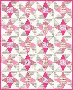 """= free pattern = Montmartre quilt, 64 x 80"""", by Robert Kaufman Fabrics"""
