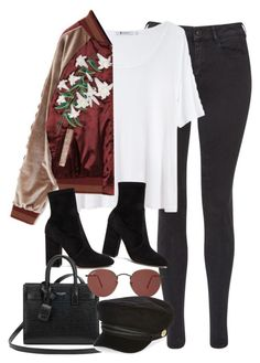 """""""Sem título #1270"""" by oh-its-anna ❤ liked on Polyvore featuring Maison Scotch, T By Alexander Wang, Valentino, Yves Saint Laurent, Ray-Ban and River Island"""