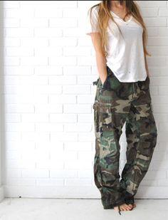 Baggy Camo Pants. Don't buy womens; wear your Man's...