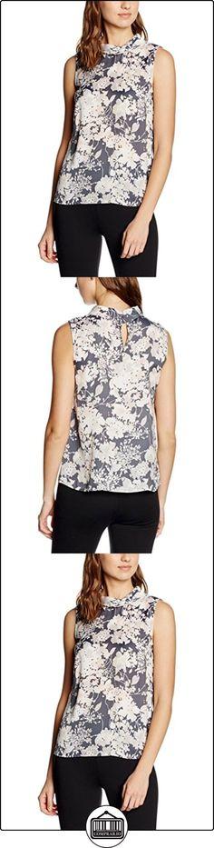 More & More 61072014, Blusa para Mujer, Mehrfarbig (Cloudy Grey Melange 3754), 44  ✿ Blusas y camisas ✿